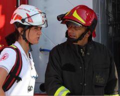 Il ROS VVF in briefing con il medico della MSA