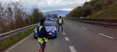 Polizia Stradale - gestione traffico in autostrada per incidente